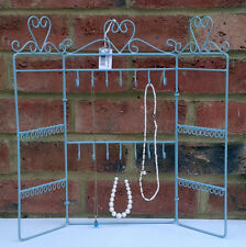 Jewellery Holder Stand Display Rack Duck Egg Blue Folding Chic Girl Gift New