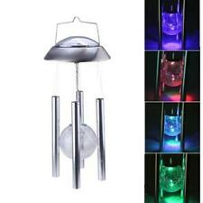 Solar Powered Color changing Light Wind Chimes Rotating LED Light Decor Lamp