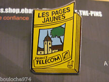 "PIN'S /PINS / BADGE  LA POSTE FRANCE TELECOM ""  LES PAGES JAUNES  "" EF"