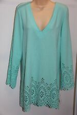 NWT Kenneth Cole Swimsuit Cover Up Dress Sz M SFM Long sleeve