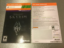 The Elder Scrolls V: Skyrim (Xbox 360, 2011) Download Card (1 each per purchase)