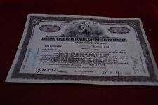 Share Certificate British Columbia Power Corporation Limited