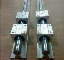 SBR25-500mm LINEAR SLIDE GUIDE 25mm SHAFT 2 RAIL+4 SBR25UU Bearing Block CNC set