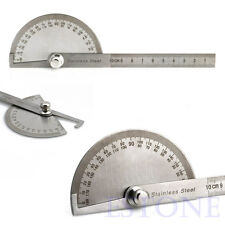 180 degree Stainless Steel Protractor Angle Finder Arm Measuring Ruler Tool
