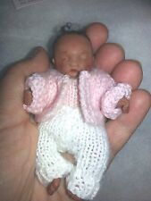 "OOAK baby doll JADE by Kim Russo 2010 black 4"" fully jointed hand sculpted"
