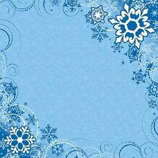 Scrapbook Paper 3D 12 x 12 inches SNOW 2 Sheets  BBE