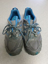 """Adidas """"Kanadia TR-2"""" gray and blue trail running shoes. Women's 9.5 (eur 42)"""