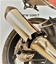 R&G BLACK 'SUPERMOTO STYLE' EXHAUST CAN PROTECTOR  Yamaha FJR1300 (2013)