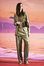 $3,865 GUCCI SUIT IRIDESCENT DECONSTRUCTED BLAZER & PANTS sz IT 38 US 2