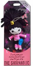 "Watchover VOODOO DOLL Keychain, THE SHOPAHOLIC, Born To Shop, 3"" Tall"