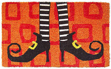 "DOOR MATS - WICKED WITCH COIR DOORMAT - 18"" X 30"" - COIR DOOR MAT"