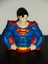SUPERMAN BUST BANK CLASSIC NEW GREAT DETAIL