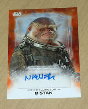 2016 Topps Star Wars Rogue One 1 RED autograph Nick Kellington as BISTAN 1/1