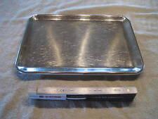 Edelstahl Verkaufsschale Schale Gastro Tablett mit Füßen 33 x 23,5 x 2,5 cm Nr56
