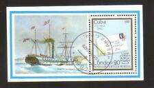 9298- Cuba , s/sheet Michel BL 120 – ships, stamps on stamps