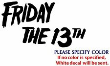 Friday The 13th Game Movie TV Funny JDM Vinyl Sticker Decal Car Window Wall 7""