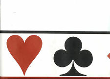 RED BLACK AND WHITE POKER WALLPAPER BORDER