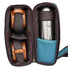2006 Starbucks Picnic set Travel Bag Thermos mugs hiking fishing camping