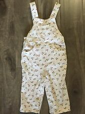 Baby GAP Girls Toddler Spring Fall Floral Cotton Overalls One Piece Pants 12-18M