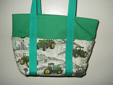 John Deere Ladies Purse. Lunch Tote, John Deere Tractors & Green Handmade New