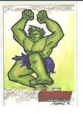 Upper Deck Avengers Age Of Ultron Hulk Color Sketch by Vanessa Banky Farano