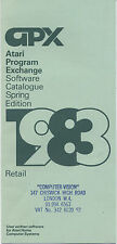 VINTAGE (1983) RARE BROCHURE:  ATARI PROGRAM EXCHANGE SOFTWARE CATALOGUE (UK) Q2