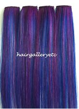 """12"""",14"""", 18"""" Long Multi Color Clip-in 100% Human Hair Extensions 4pcs USA SELLER"""