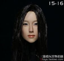 1:6 KUMIK Accessory Action Figure Girl Actress Female Head Sculpt CG CY KM15-16