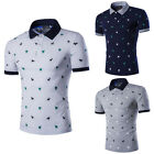 New Fashion Men's Slim Fit Casual Polo Shirt T-Shirt Short Sleeve Tops Tee M-2XL