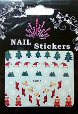 Christmas, Water Nail Sticker Tatoo, Weihnachten , AS035