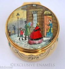 Bilston & Battersea Halcyon Days Enamels Christmas 1978 Enamel Box