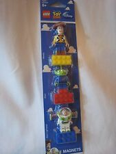 LEGO DISNEY TOY STORY FIGURE BUZZ , ALLIEN & WOODY MAGNETS SET NIP