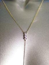 CHIC Urban Anthropologie Dainty Gold Chain CZ Crystals Draping Y Dangle Necklace
