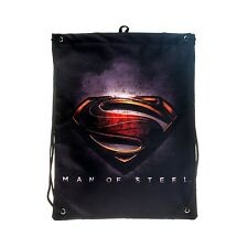 DC Comics Man Of Steel Movie Superman Logo Men's Drawstring Bag PE Kit Boys Gift