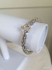 New $395 LAGOS 925 Sterling Silver Caviar Beaded Rope Bracelet 6mm