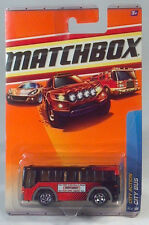 Matchbox City Action Bus 2009 Collection Die Cast Scale Model Red And Black 2