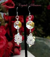 ~Crystal Highlights~ Crystal Swarovski Elements AB Aurora Borealis Earrings