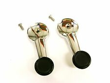 PAIR OF CHROME WINDER HANDLES & SCREWS FOR CLASSIC MINI 1968 ON BD32364