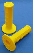 YAMAHA GRIZZLY ODI HALF WAFFLE MX GRIPS YELLOW NEW TWIST THROTTLE BDTM