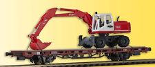 Kibri 26258 H0 Niederbordwagen mit Atlas Radbagger, Fertigmodell