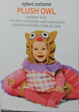 Halloween Infant Plush Owl Costume Size 6-12 months NWT