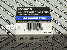 KONICA Leica M Hexanon Dual lens 21-35 21-35mm F3,4-4 KM neu ovp new in box