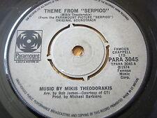 """MIKIS THEODORAKIS - THEME FROM 'SERPICO'  7"""" VINYL"""