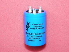 F&T 32+32uF 500V Dual Electrolytic Solder Lugs Capacitor Tube Amplifier