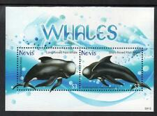 Nevis MNH 2009 Dolphins & Whales M/S
