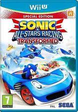 SONIC E ALL STARS RACING trasformato Limited Edition per Wii U PAL (NUOVO)