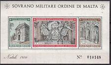 BLOC  TIMBRE MALTE NEUF SOVRANO MILITARE DI MALTA 1970