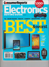 CONSUMER REPORTS JUNE 2014, ELECTRONICS BUYING GUIDE BEST & WORST.
