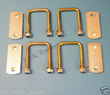 FREE P&P* 4 of 50mm x 50mm U Bolt HIGH TENSILE & Plates - Trailers