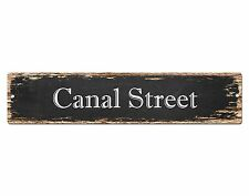 SP0641 CANAL Street Sign Home Cafe Store Shop Bar Chic Decor Gift